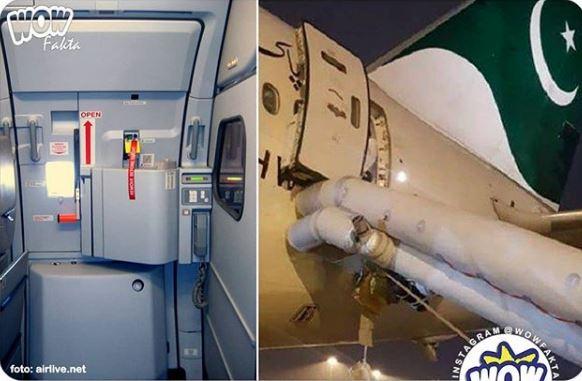 Mengira Pintu Toilet, Ibu Ini Tidak Tahu Jika Yang Ia Buka Adalah Pintu Emergency Pesawat