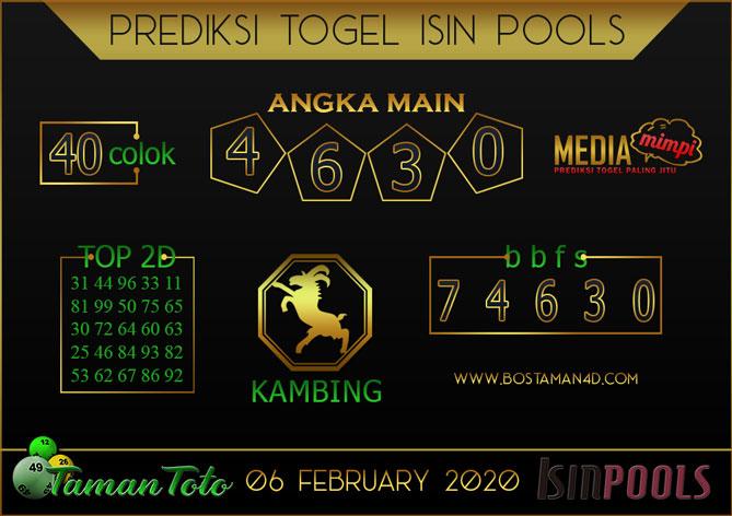 Prediksi Togel ISIN TAMAN TOTO 06 FEBRUARY 2020