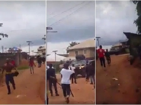Video of IPOB member Attacking Army