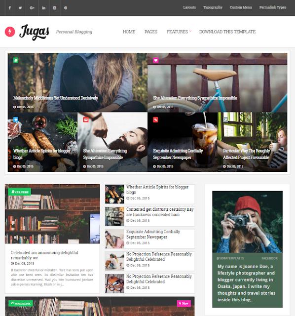 Jugas Magazine Blogger Template