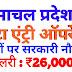 Data Entry Operator Recruitment in Himachal Pradesh