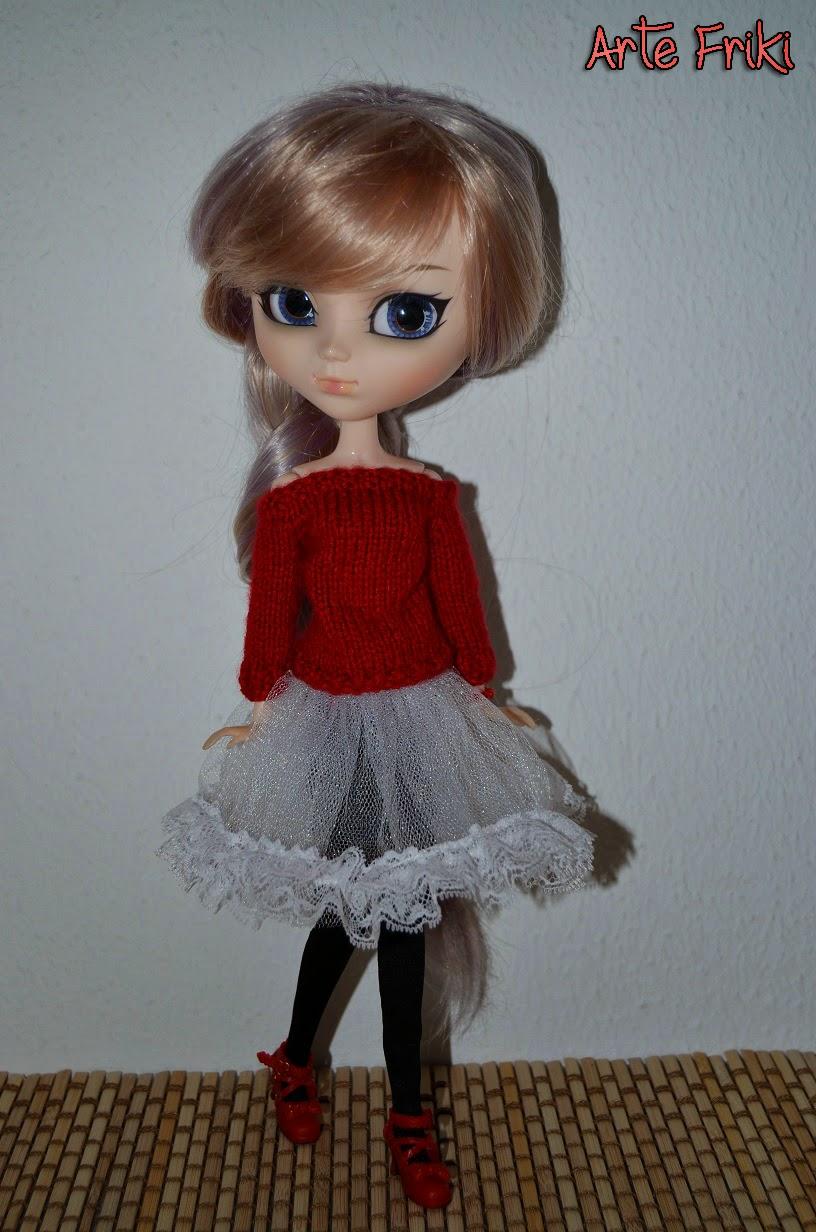 patrón jersey manga ranglan blythe pullip doll sweater pattern knitting dos agujas punto tricot