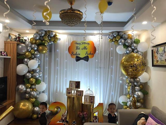 Trang trí sinh nhật tại nhà Trung Văn- Nam Từ Liêm