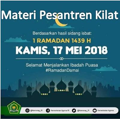 Download Materi Berupa Ebook Untuk Kegiatan Pesantren Kilat Ramadhan 1439 Hijriah di Sekolah