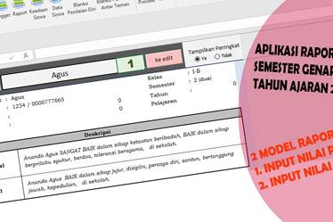 Aplikasi Raport Kurikulum 2013 SD Semester  2 Tahun ajaran 2018/2019