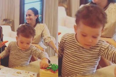 Foto inedita di Archie , il primo figlio di Harry e Meghan