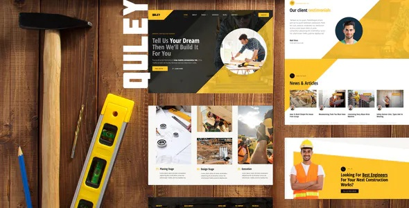 Best Construction & Engineering Elementor Template Kit