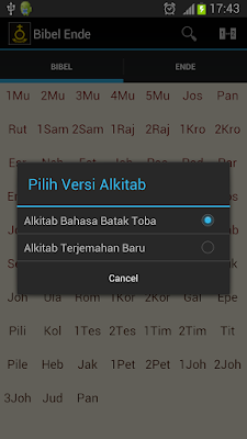 Buku Ende HKBP bahasa Batak Toba khusus Android