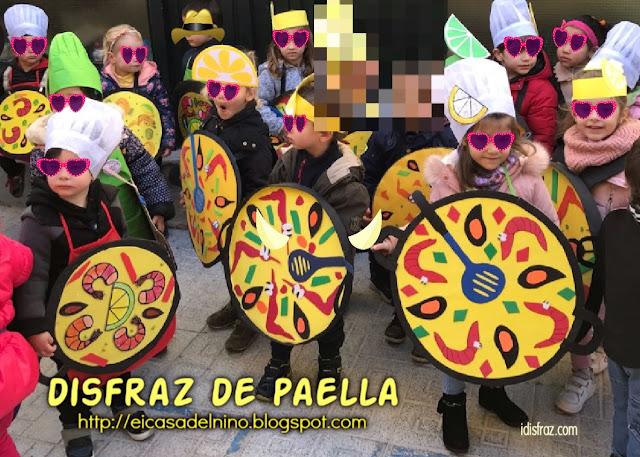Disfraz para escolares de paella valenciana