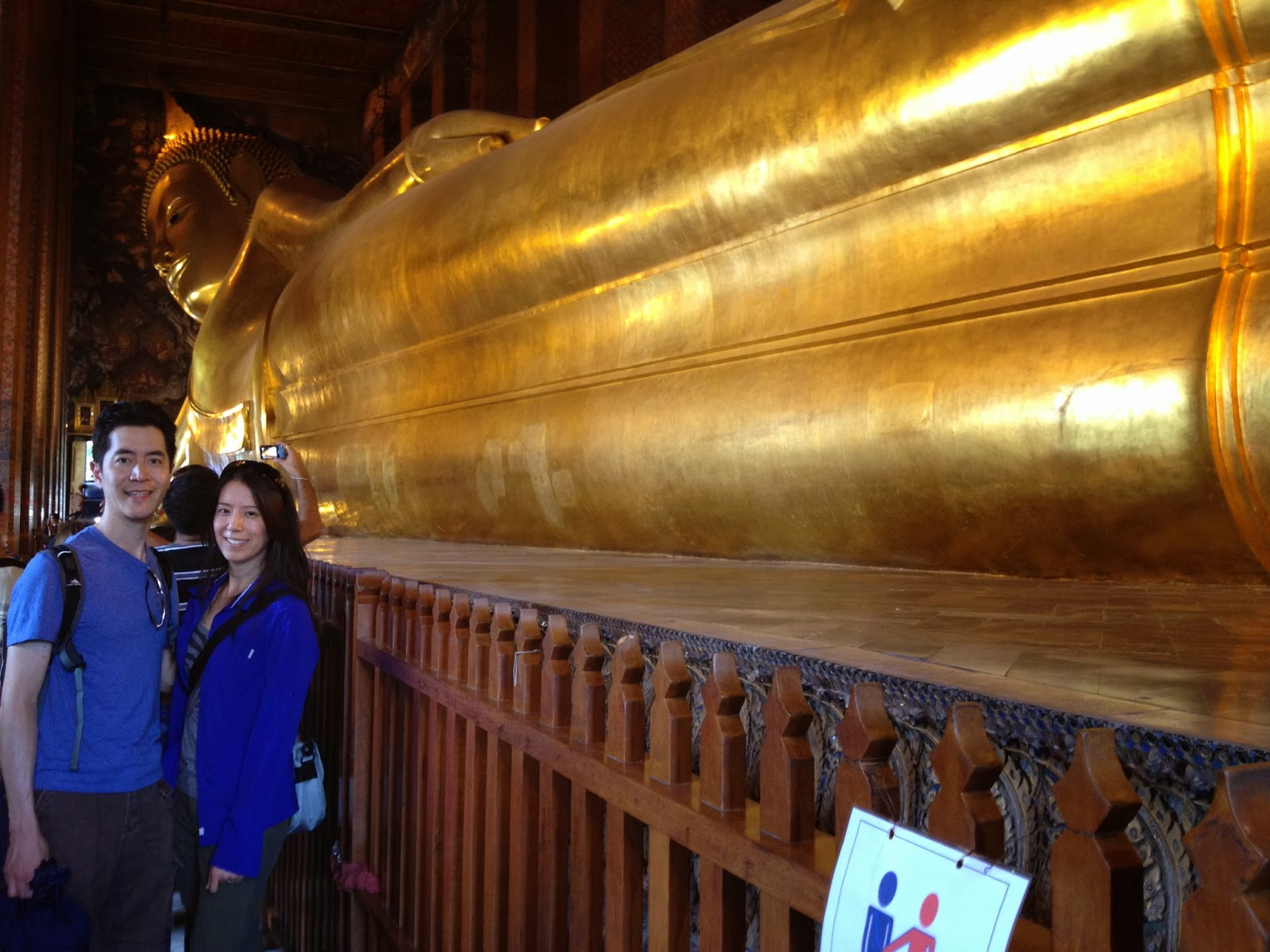 Bangkok - We got a picture with most of the Reclining Buddha