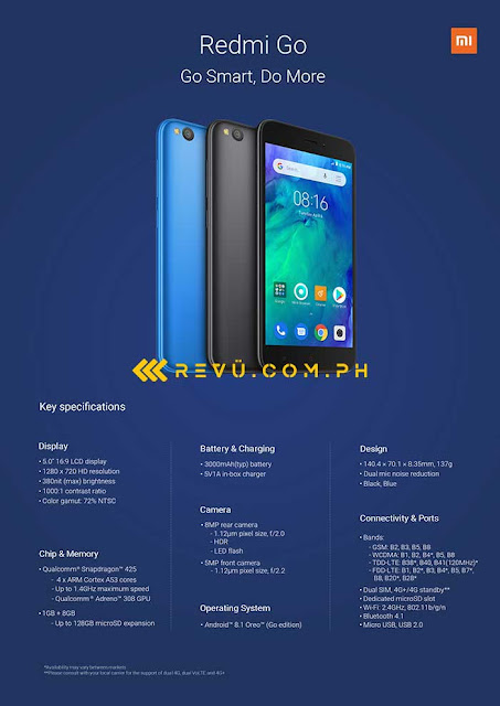 Xiaomi Redmi Go official render and full specs , launch