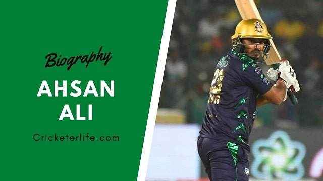 Ahsan Ali Cricketer biography, age, height, batting, wife, family, etc.