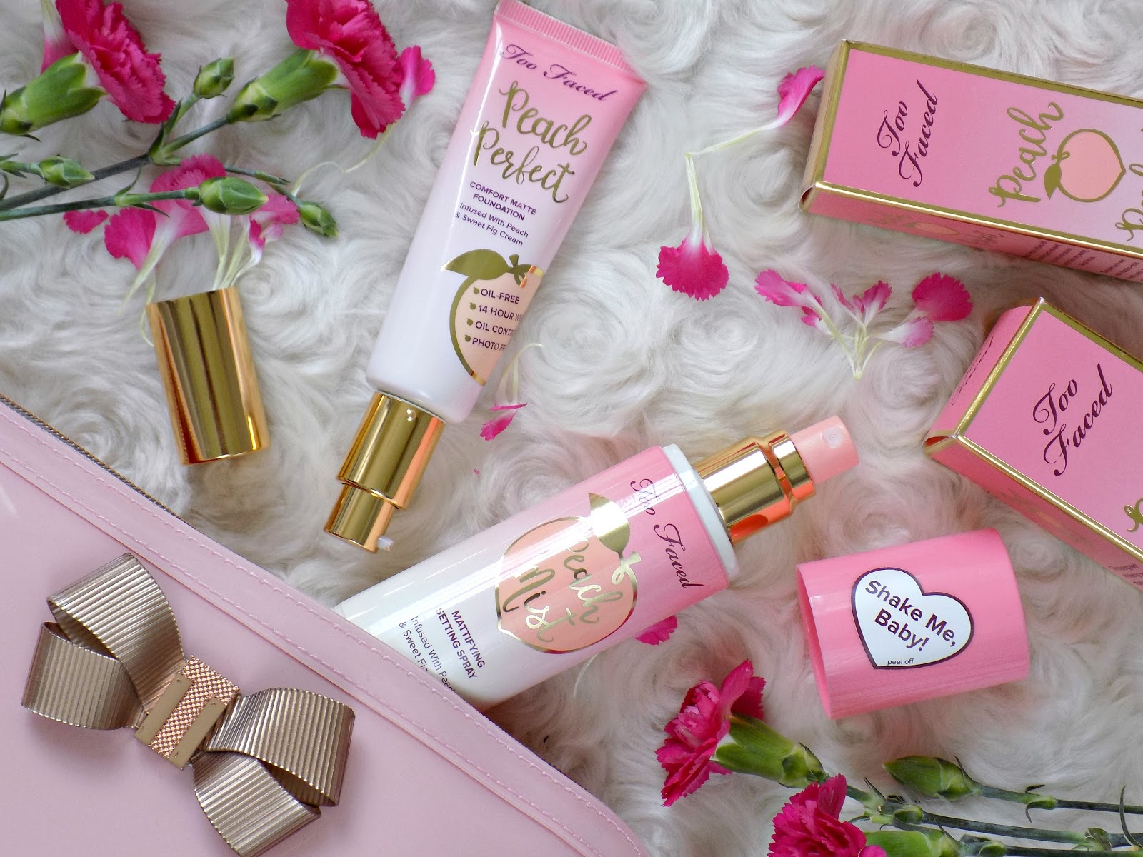 Too Faced Peach Perfect Comfort Matte Foundation,Too Faced Peach Perfect Mattifying Setting Spray