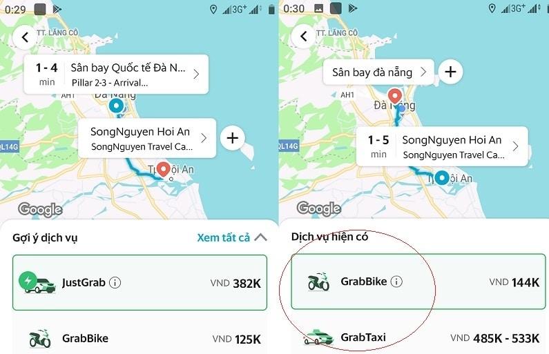 Giá xe Grab, Taxi đi Cù Lao Chàm - Hội An