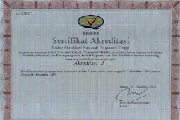 Download Setifikat Akreditasi Program Studi IKIP Veteran Semarang