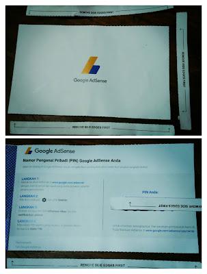 Contoh Bukti Surat PIN Google Adsense, PIN Adsense, Kode PIN Adsense