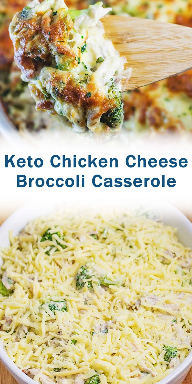 Keto Chicken Broccoli Cheese Casserole
