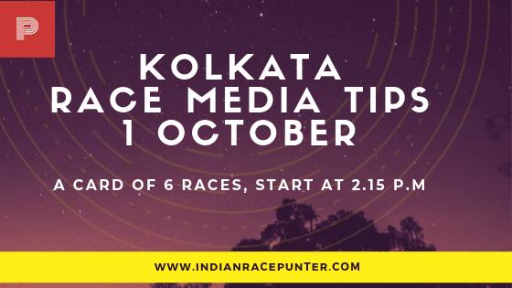 Kolkata Race Media Tips, indiarace,  free indian horse racing tips