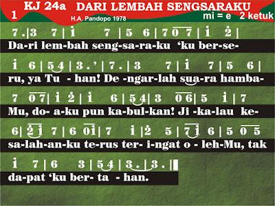 Lirik dan Not Kidung Jemaat 23
