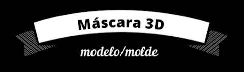 Máscara 3D ... Modelo ... Molde  - adulto -