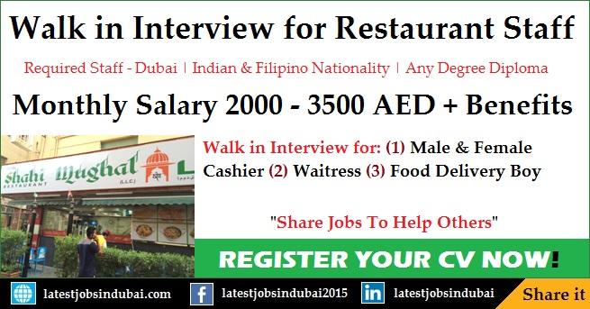 Fast Food Restaurant jobs in Dubai