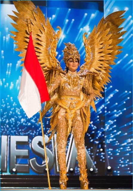 trajes tipicos  miss universo 2017 indonesia