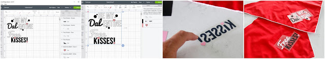 Creating a custom design for Cricut iron-on DIY Valentine's Day dog bandanas