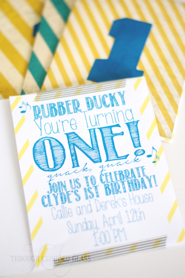 Ive Made Almost All Of Our Party Invitations Myself And Today I Wanted To Share A Simple Little Tutorial For These First Birthday
