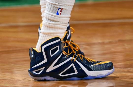 the latest db27e 1c381 Here is a look via NBA at Nike Lebron 12 Elite Game 3 PE Sneaker he is  wearing tonight, these look pretty sweet. You can design your own pair like  his right ...