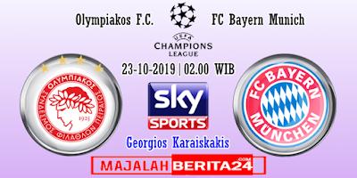 Prediksi Olympiacos vs Bayern Munich — 23 Oktober 2019