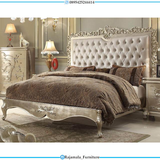 Classic Luxury Tempat Tidur Mewah Ukir Jepara Elegant Carving RM-0455