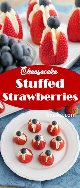 Cheesecake Stuffed Strawberries #cheesecake #dessertrecipe