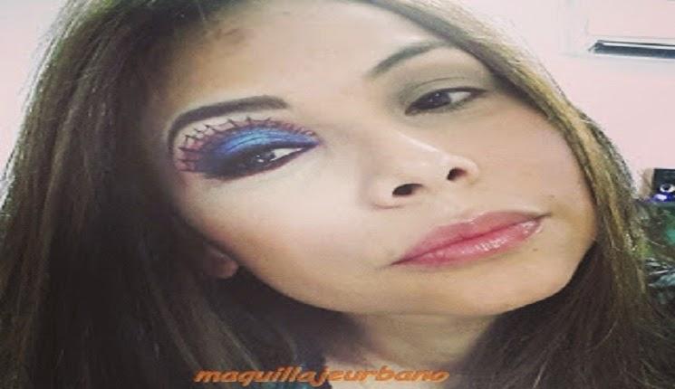 maquillaje de mujer araña