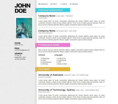 Contoh cv paling bagus menarik terbaik fikriwildannugraha.blogspot.com