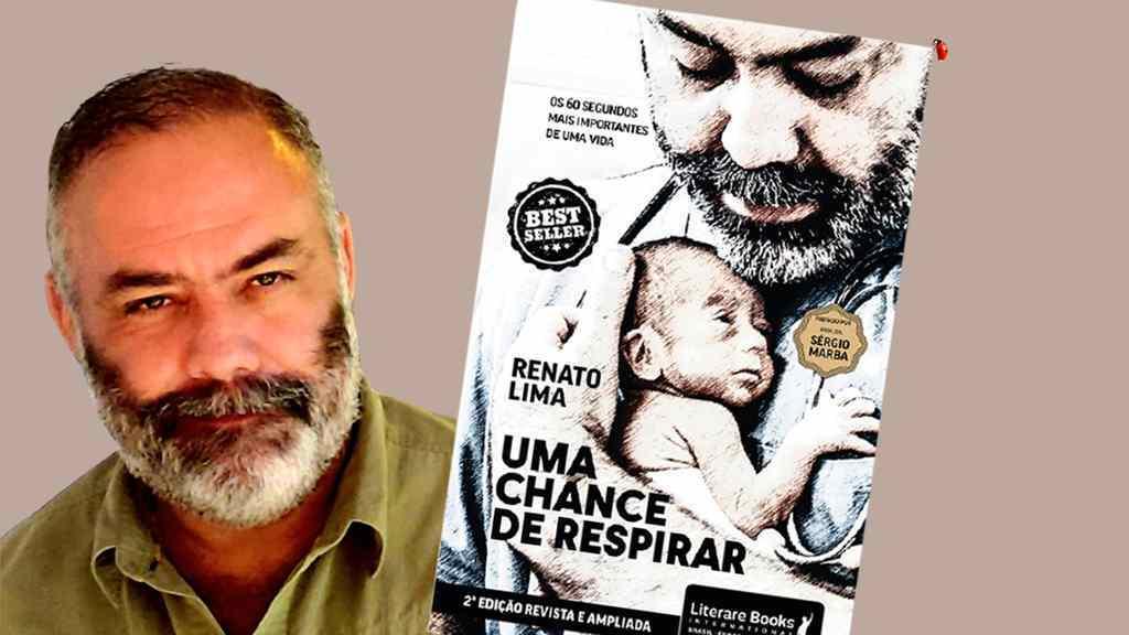 """Em menos de três meses após seu lançamento, a obra """"Uma chance de respirar"""", de Renato Lima esgotou nas prateleiras físicas e digitais, obteve o selo de best-seller e ganhou uma nova edição."""