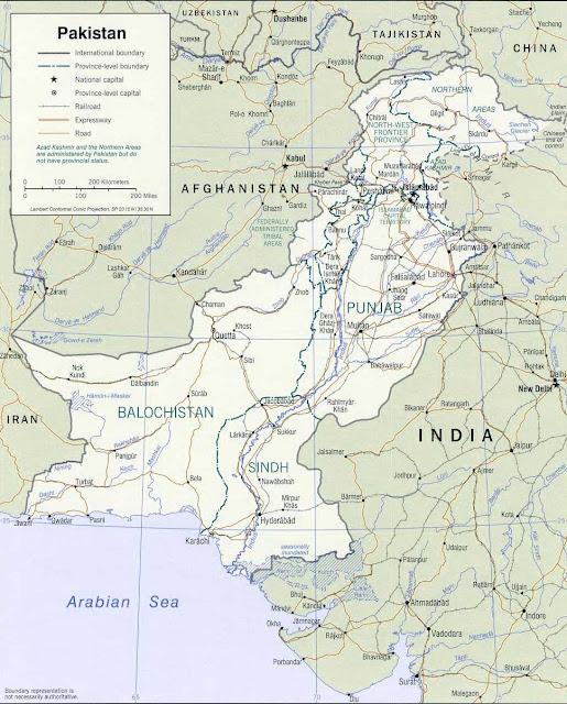 Gambar Peta politik Pakistan
