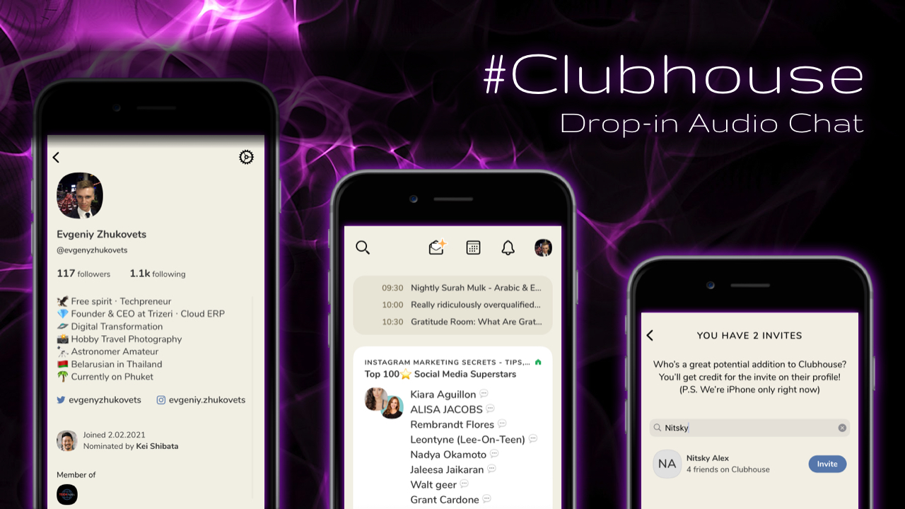 "Clubhouse, the fastest-growing social media app in the world today. It's an app that lets you connect with people and create themed ""Rooms"". In these rooms, there will be ""audience"" and ""speakers"". The speaker can talk to people, and if necessary, he can invite or allow other people to speak."