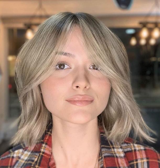 curtains bangs short hair 2021