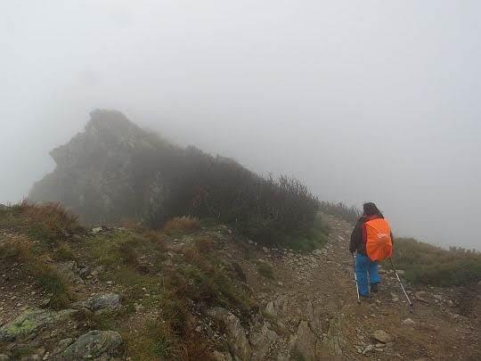 Zejście z Siwego Zwornika na Siwą Przełęcz.