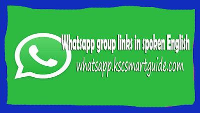 Whatsapp group links in spoken English
