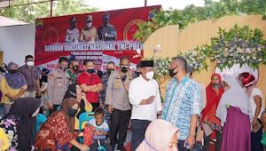 Vaksinasi Nasional TNI/Polri Dalam Rangka Menyambut HUT Bhayangkara ke-75 tahun 2021 di Tinjau oleh Plt Walikota Tanjungbalai