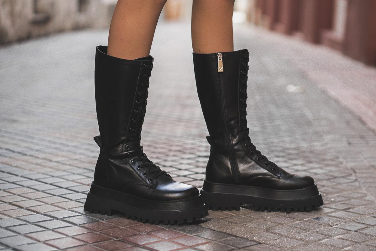 military boots zara