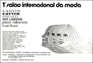 moda 1973,  Moda anos 70; propaganda anos 70; história da década de 70; reclames anos 70; brazil in the 70s; Oswaldo Hernandez