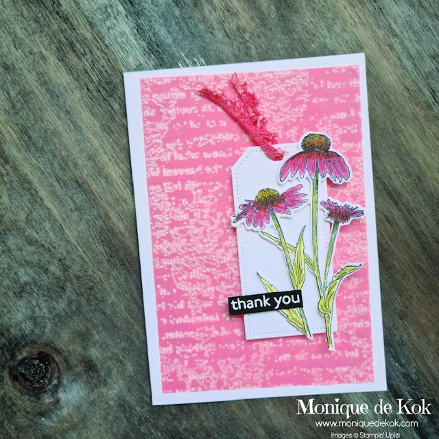 zelfgemaakte kaart, Stampin Up, Nature's Harvest, Harvest Meadow, favoriet product, bloghop, Creatieve harten, stempelset, bloemen, roze, bestellen