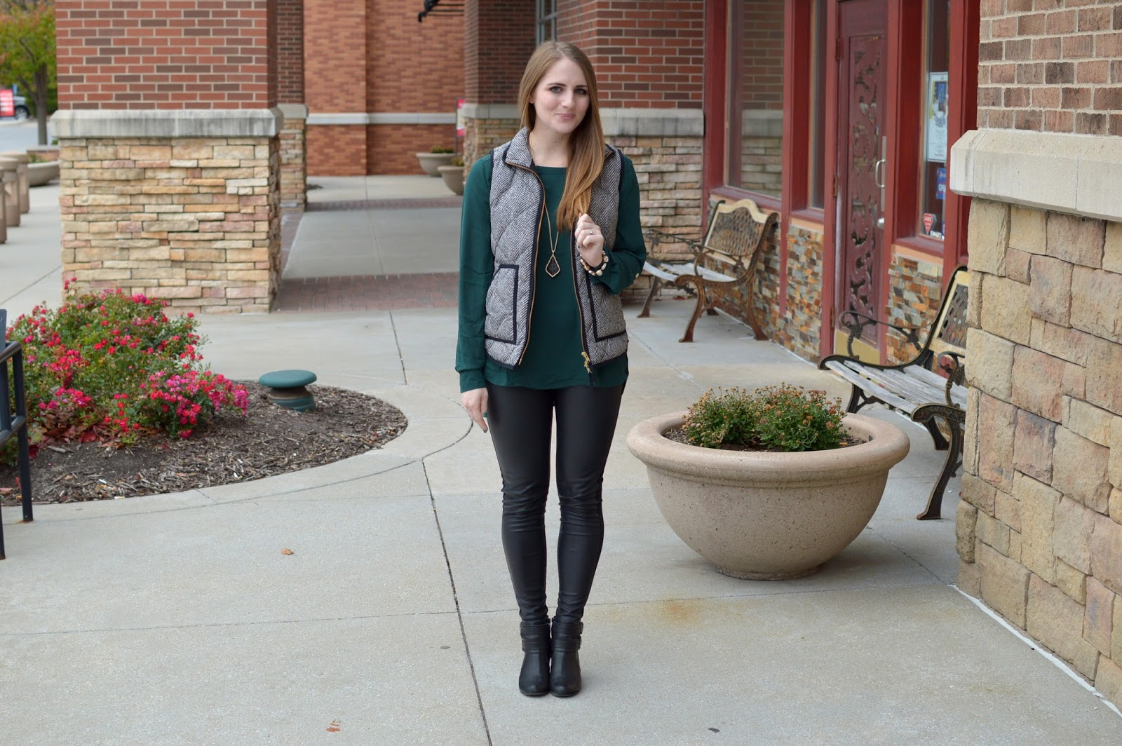 herringbone vest outfit ideas