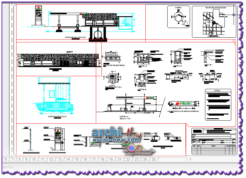 Download autocad cad dwg file executive project complete for Simboli gas dwg