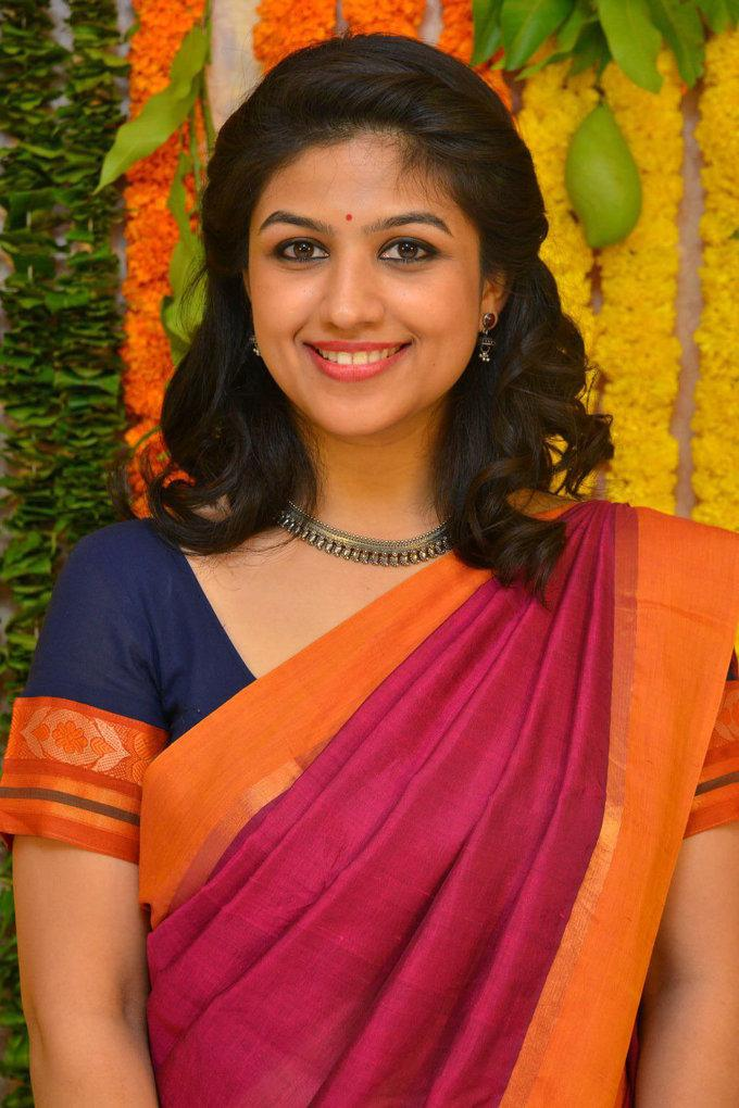 Tamil Actress Supriya Aysola Stills In Orange Saree