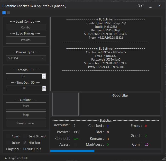 iPJetable Checker Account By X Splinter