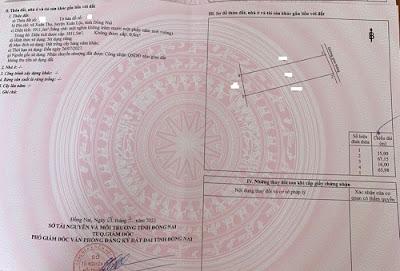 Đất Xuân Thọ 1000 m2 ( 15 x 67 ) giá Long Khánh giá 740 tr