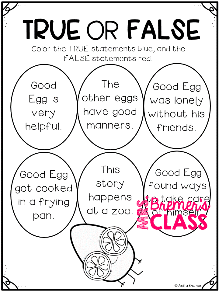 Mrs. Bremer's Class: The Good Egg